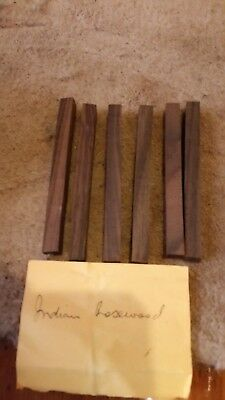 Indian Rosewood wood turning timber pen blanks. 6 of 10 x 10 x 120