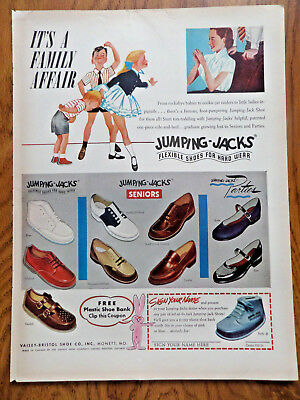 1953 Jumping-Jacks Shoes Ad It's a Family Affair