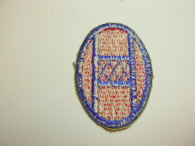 A     WW 2 U S Army 30th Division O D Backing Cut Edge White Back Patch