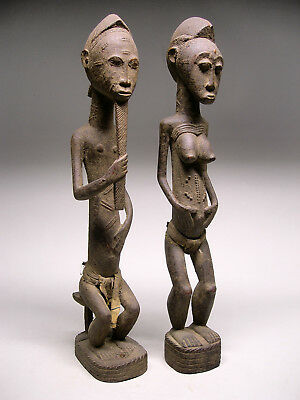 AUTHENTIC ~ BAULE KOMIEN DIVINER'S PAIR From Cote d'Ivoire ~ STELLAR!!!