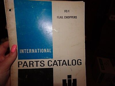 Vintage Original IH International Harvester FC-1 Flail Choppers Part Catalog