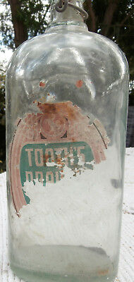 Vintage Tooth's Draught Beer Bottle~Refill~Partial Label~Imperial Quart~