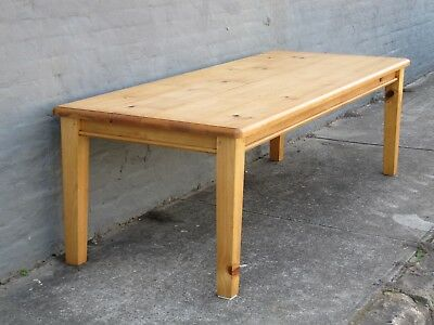 Country Style Kauri Pine 10 seat dining table