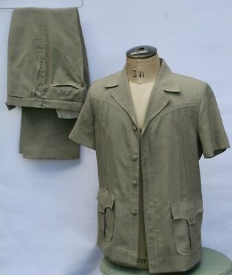 VINTAGE 1970s SAFARI SUIT  Dress Up or Party Time, Boys Night out, SAVE!  Medium