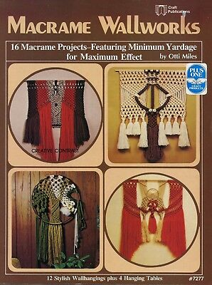 MACRAME Wallworks - 1978 - 12 wallhangings plus 4 hanging tables
