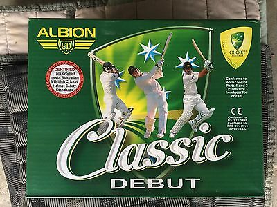 Albion Classic Debut Cricket Helmet Maroon Size XL (60cm) New Boxed BNIB