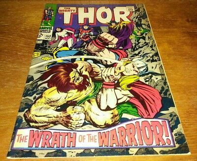 "The Mighty Thor #152 * VG+ 5.5 ""Destroyer and Ulik App."""
