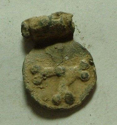 Rare original Medieval Crusader era messenger letter lead seal artifact intact