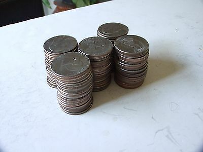 100 Circulated Mixed Dates And Mints Eisenhower Dollars !!!!!