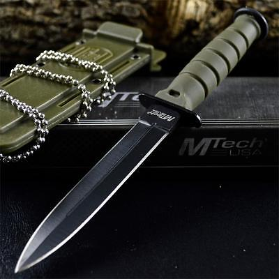 """6"""" COMBAT TACTICAL NECK KNIFE Survival Boot MILITARY BOWIE Fixed Blade + SHEATH"""