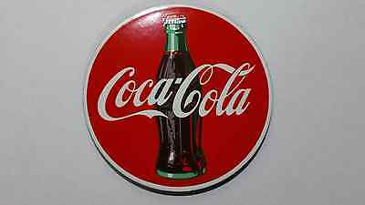New Ande Rooney Coca Cola Round Reproduction Porcelain Steel Enamel Magnet Fun