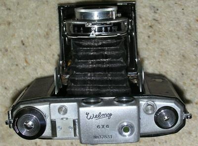Vintage Welmy 6 X 6 Folding Camera with Case