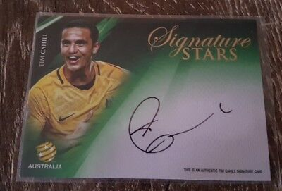 2016 17 tap n play Tim Cahill Signature Socceroos