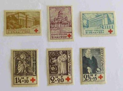 Finland 1932 and 1933 Red Cross sets unused