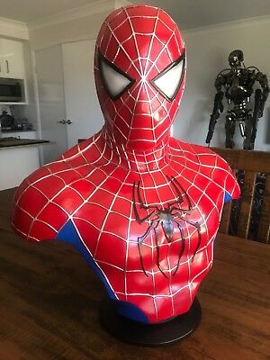 SPIDER-MAN  Life Size Bust 1:1 VERY NICE - NOT Sideshow VGC