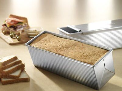 "9""x4"" Nonstick+Quick Release Coating Bakeware Pullman Loaf Pan Aluminized Steel"