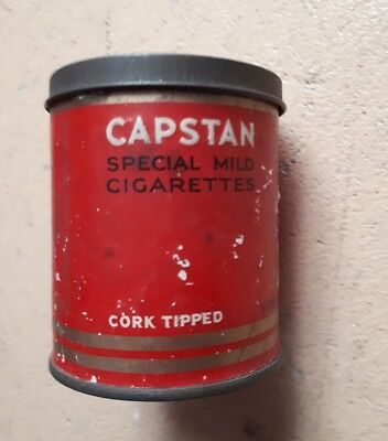 Capstan Cigarette Tin Sydney Cork Tipped