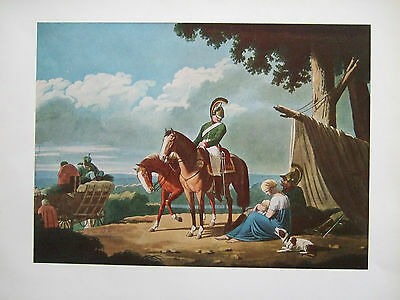 Vintage Military Print-  Chevaulegers -The Chance Meeting-Austria C 1805