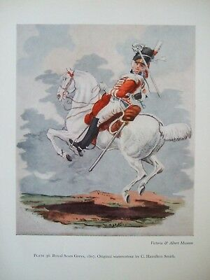 Vintage Military Print- Royal Scots Greys 1807 By C Hamilton Smith