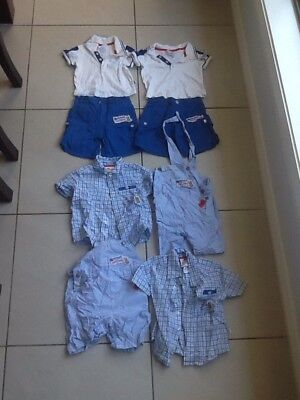 Bunnykins Boys Club By Royal Doulton Boy's Outfits Size 0-1 Pants & Tops (8)