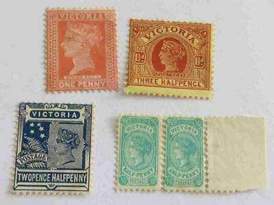 Victoria 1899 - 1910 QV small collection unused