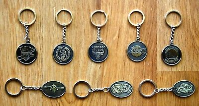 NBA Team Keyrings Keychains Choose From 8 Teams, Lakers, Celtics, Warriors...