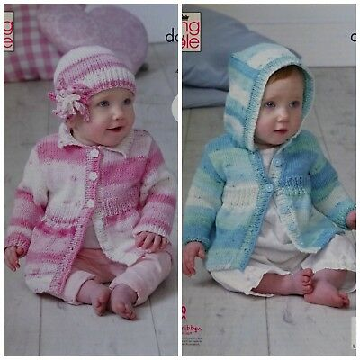 KNITTING PATTERN Easy Knit Baby Coat Hoodie and Hat Cottonsoft DK King Cole 5102