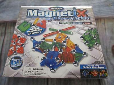 Magnetix X-treme Combo Magnetic Building Set in Box 60 pieces Roseart Excellent