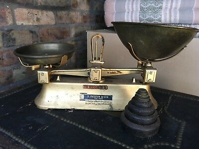 Vintage Weighing Scales by E Patson & Son Est 1829