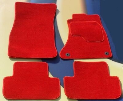 FORD FIESTA & ST 2017 on BRIGHT RED CARPET CAR FLOOR MATS + CLIPS