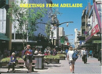 Color Postcard , Rundle Mall , Adelaide , South Australia (C)