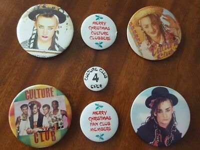 Vintage RETRO 1980 CULTURE CLUB boy george BADGES pins