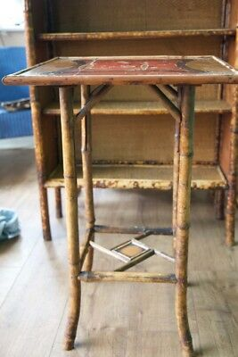 Victorian Antique Tiger Bamboo Side Table