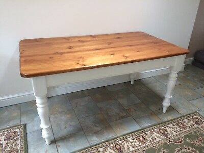 Rectangular Farmhouse pine kitchen table