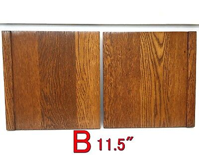 Pair Antique Oak SIDES Ends GLOBE WERNICKE Barrister Bookcase Section *B*