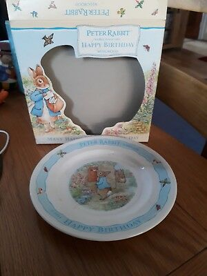 Wedgewood Beatrix Potter Peter Rabbit Happy Birthday Plate Boxed