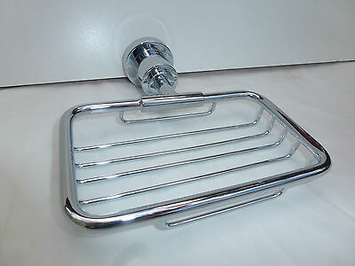 Square Shower Shelf Soap Wire Basket/Holder/Dish Full Chrome