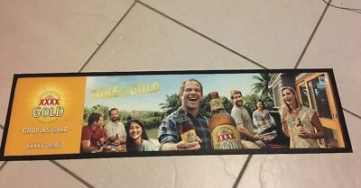 XXXX Gold Beer Mat Runner Take In The Gold Current Promo