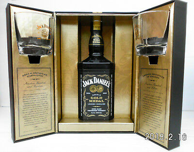 Jack Daniels Double Gold Medal Ltd Edit Set 1914-1915 Mint-Rare to Find Now!!