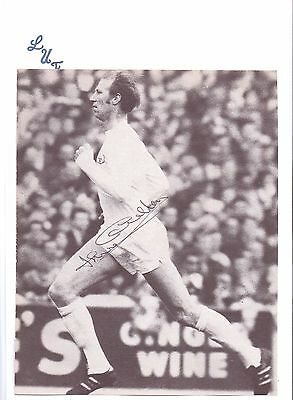 Jack Charlton Leeds United 1952-1973 Original Hand Signed Picture Cutting