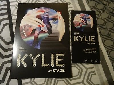 Kylie Minogue On Stage Australian Programme And Flyer From New Exhibition Rare