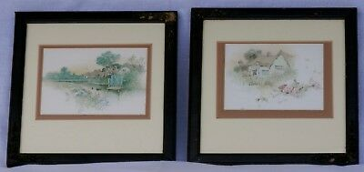 Antique – 19th Century – Victorian Wooden Framed Colour Prints