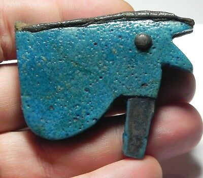 Zurqieh -As3059- Ancient Egypt , Huge Faience Eye Of Horus Amulet. 600 - 300 B.c