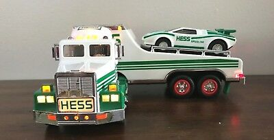 Hess 1991 Toy Truck and Racer w/Lights~Previously Owned~Never used~Free Shipping