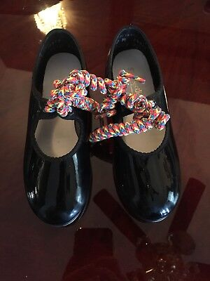 Size 10 Toddler Girls American Ballet Theatre Black Tap Shoes
