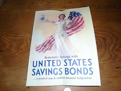 Official United States Savings Bonds Booklet Lady Liberty 1935 Mailer Vtg