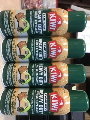 Kiwi Camp Dry Heavy Duty Water Repellent 4- 10.5 oz can 4 Pack