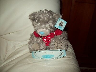 Me To You Tatty Teddy With Message 'Every Time I See You My Heart Skips a Beat'