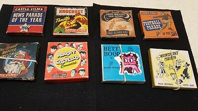 Vintage Lot 8MM Castle & Carmel Films Movies Sports, Comedy, Betty Boop-Xmas-