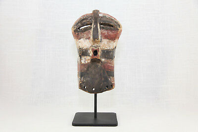 Songye Tribal Mask, Authentic African Mask on Custom Stand